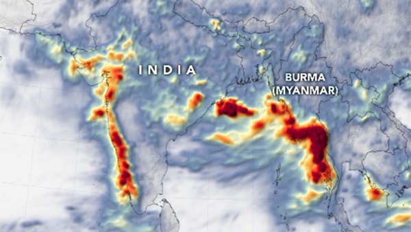 Nasa released animation pics for Heavy Monsoon Rains Flood South Asia
