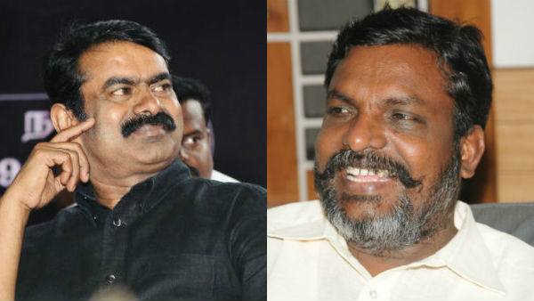 Seeman wishing Thirumavalavan on his birthday