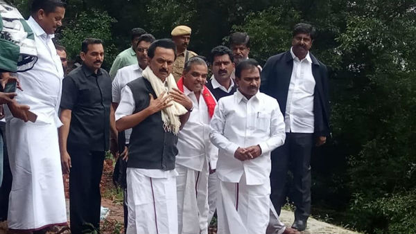 M K Stalin met affected people in Neelagiri due to heavy rain