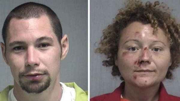 Couples Illegal activities in cop car near Florida