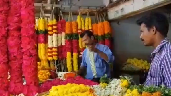 Flower sales on full swing in Thovalai flower market