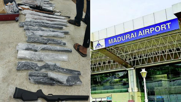 23 Guns confiscated at Madurai Airport