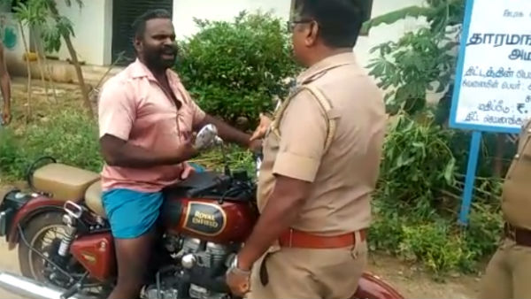 Viral Video about Helmet issue near Salem