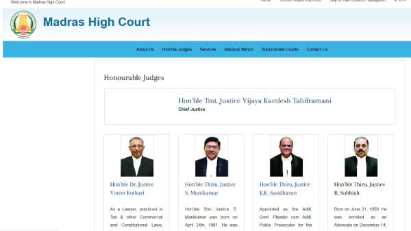 Tahilramanis picture and name was removed from Highcourt website