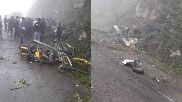 Indian Army helicopter crashes in Bhutan