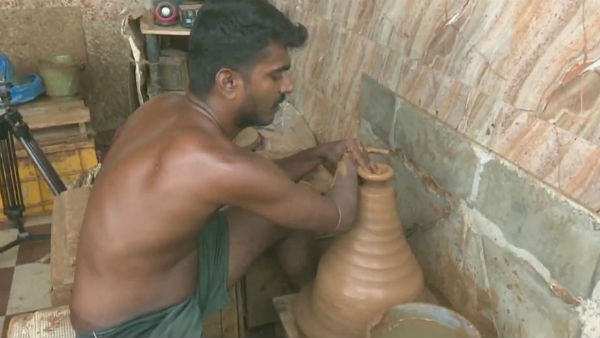 madurai youth to start pottery making in selfhelp