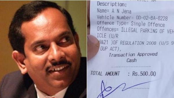 odisha : traffic inspector collect to fine in biju janatha dal mla