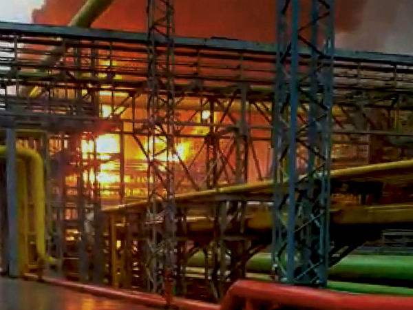 Fire accident in ONGC Navi Mumbai