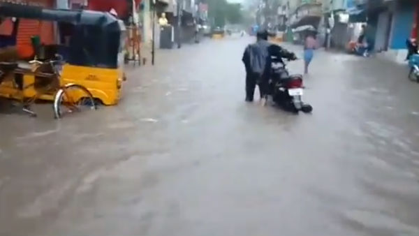 Heavy water logging in many places across chennai city
