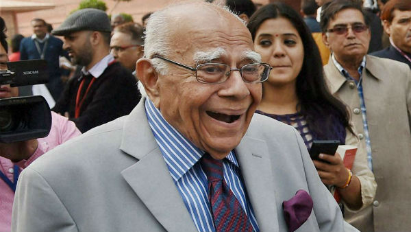 What are the cases Ramjethmalani appeared so far?