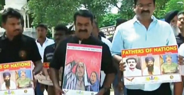 Seeman leads Protest against abrogate article 370 at Delhi