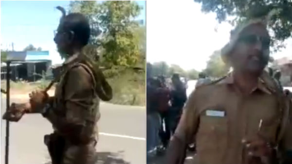 Police Inspector caught the snake Video