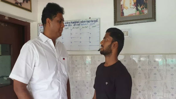 trb raja mla help to mannargudi based poor family background weight lifter