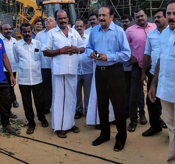 mdmk general secratery vaiko inspection to ymca ground
