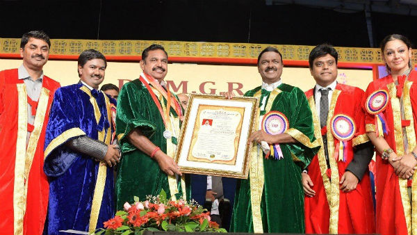CM Palanisamy s gets an Honorary doctorate for his tremendous work as the chief minister