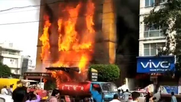 Madhya Pradesh: Fire breaks out at a hotel in Indore
