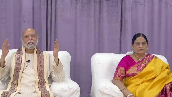 நாங்க ஓடலை, ஒளியலை.. இங்கதான் இருக்கோம்.. நல்லாருக்கோம்.. வீடியோ மெசேஜ் விட்ட கல்கி சாமியார்