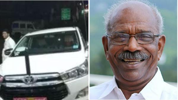 இன்னோவா காருக்கு 30 மாதங்களில் 34 டயர்களா...! ஷாக் கொடுத்த கேரள அமைச்சர்