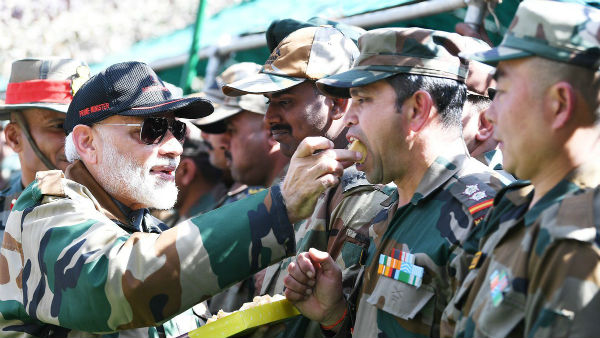 PM Modi celebrated Deepavali in Jammu Kashmir with army men