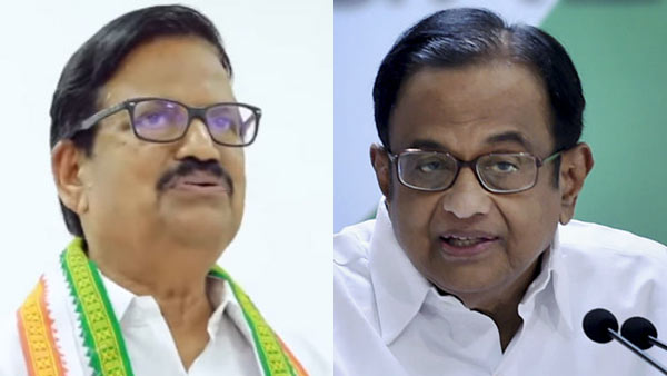 former central minister P Chidambaram on the congress star speaker list