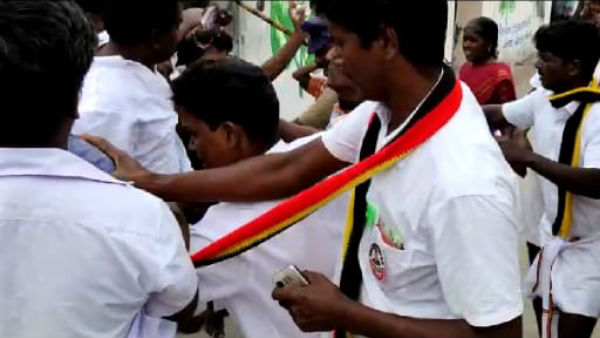clash between pmk and dmk cadres in vikravandi