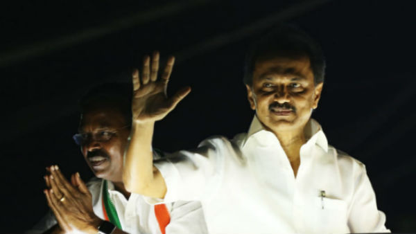 DMK cadres throng in large nuber for MK Stalin campaign in Nanguneri