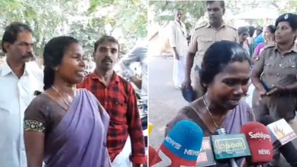 woman attempts for self immolation in kanyakumari collectorate