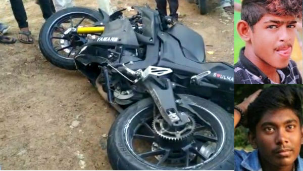 two youngsters died in bike accident near chennai