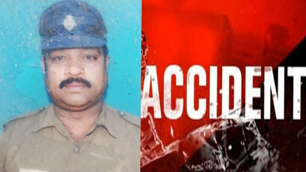 chennai police man killed in an car accident