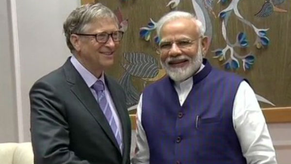 Microsoft Co Founder meet PM Narendra Modi in Delhi