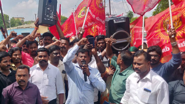 Naam Thamizhar party hold protest to shut down Eelam Tamils Special Camps