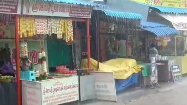 Heavy rain lashes in Sankarankoil, Thenkasi District