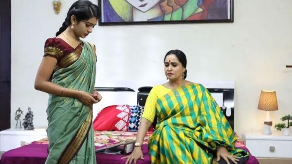 Aranmanai Kili Serial: ஆஹா... மாமியார் மருமகள் சென்டிமென்ட் கண்களில் நீரை வரவழைக்குதே! | Aranmanai kili serial: the mother-in-law's daughter in the eyes of the sentimental crying! - Tamil Oneindia