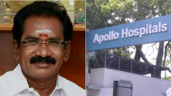 minister sellur raju admitted in apollo hospital