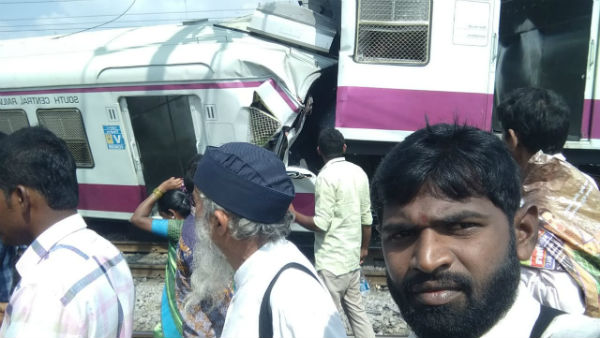 Hyderabad: Two trains have collided at Kacheguda Railway Station
