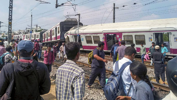 Kacheguda trains collide- Driver Still trapped inside