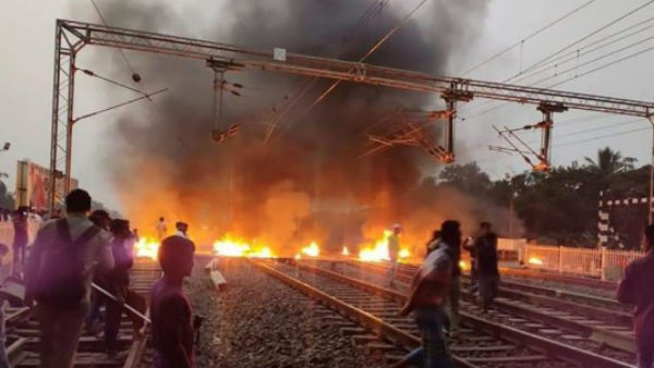 Citizenship Act protest: 5 empty trains set on fire in West Bengal