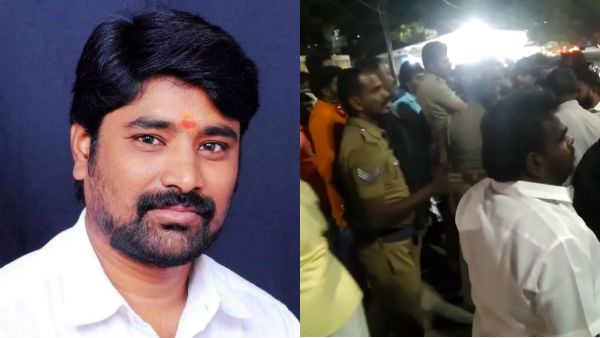BJP person attacked priest near kovai