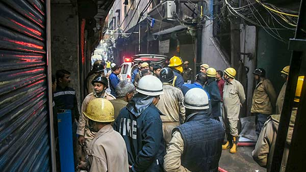 Delhi Police detained Rehan, the owner of the building where a fire broke out, claiming lives of 43 people
