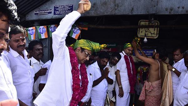 நேர்த்திக்கடனை நிறைவு செய்த கார்த்தி சிதம்பரம்... கோவில்களில் வழிபாடு