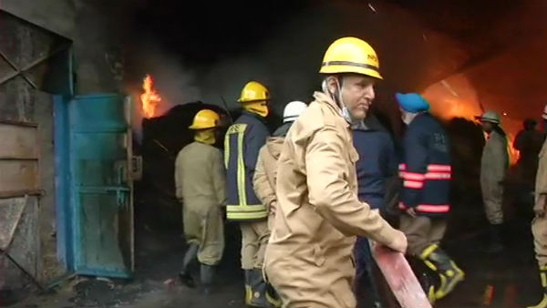 A Large fire broke out in West Delhi factory