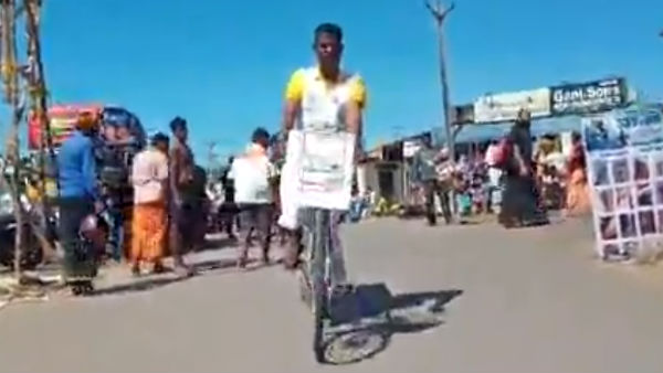 nagercoil manikandans record breaking cycling for awareness