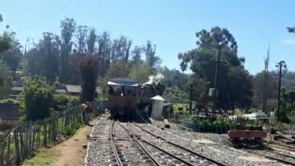 Nilgiri mountain railway service has resumed today after 8 days