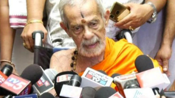 Pejawar Seer Vishwesha Teertha passes away the early morning in Udupi