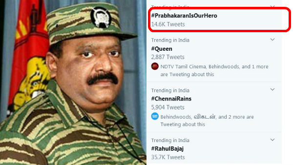 #PrabhakaranIsOurHero trends on twitter