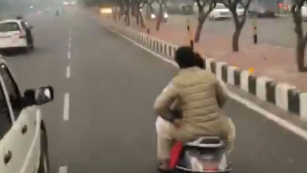 Congress General Secretary Priyanka Gandhi travelled in a two wheeler without helmet