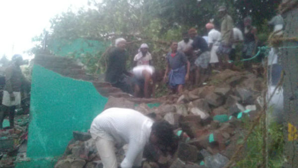 Police files case against House owner who built compound wall for the houses where it collapses