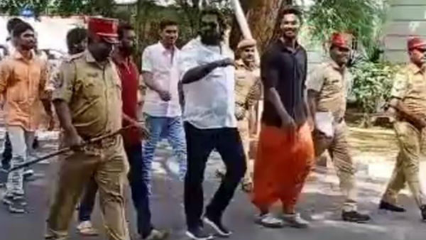 Rowdy Cholan wearing a cooling glasses and shoe like hero creates controversy.