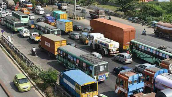 Pongal Holidays: Heavy traffic at Trichy - Chennai Highway