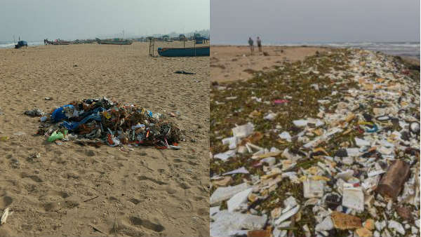 Kaanum Pongal: 12 tons of garbage have been dumped at Marina Beach